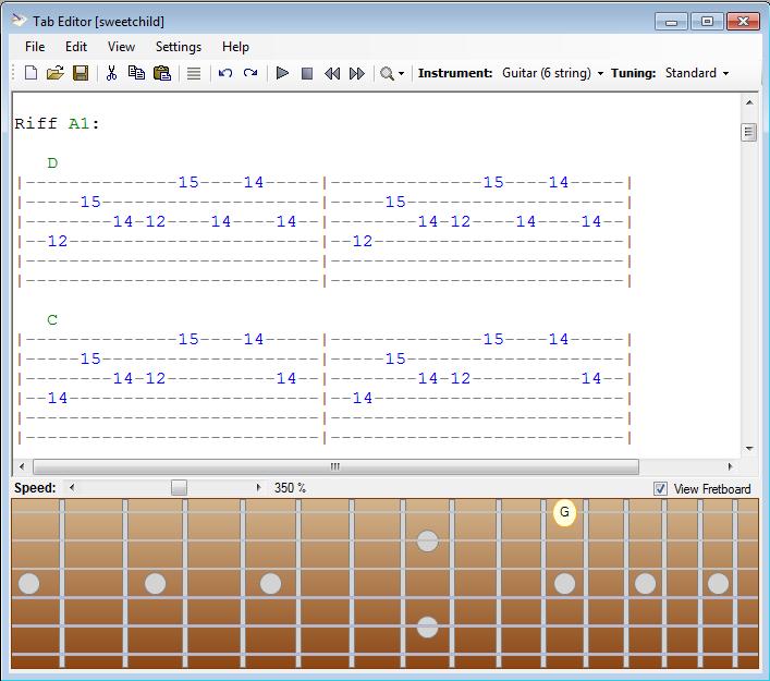 Guitar guitar tablature writer : Guitar and Bass Software - Screenshots
